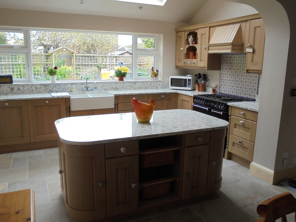View of a newly built kitchen