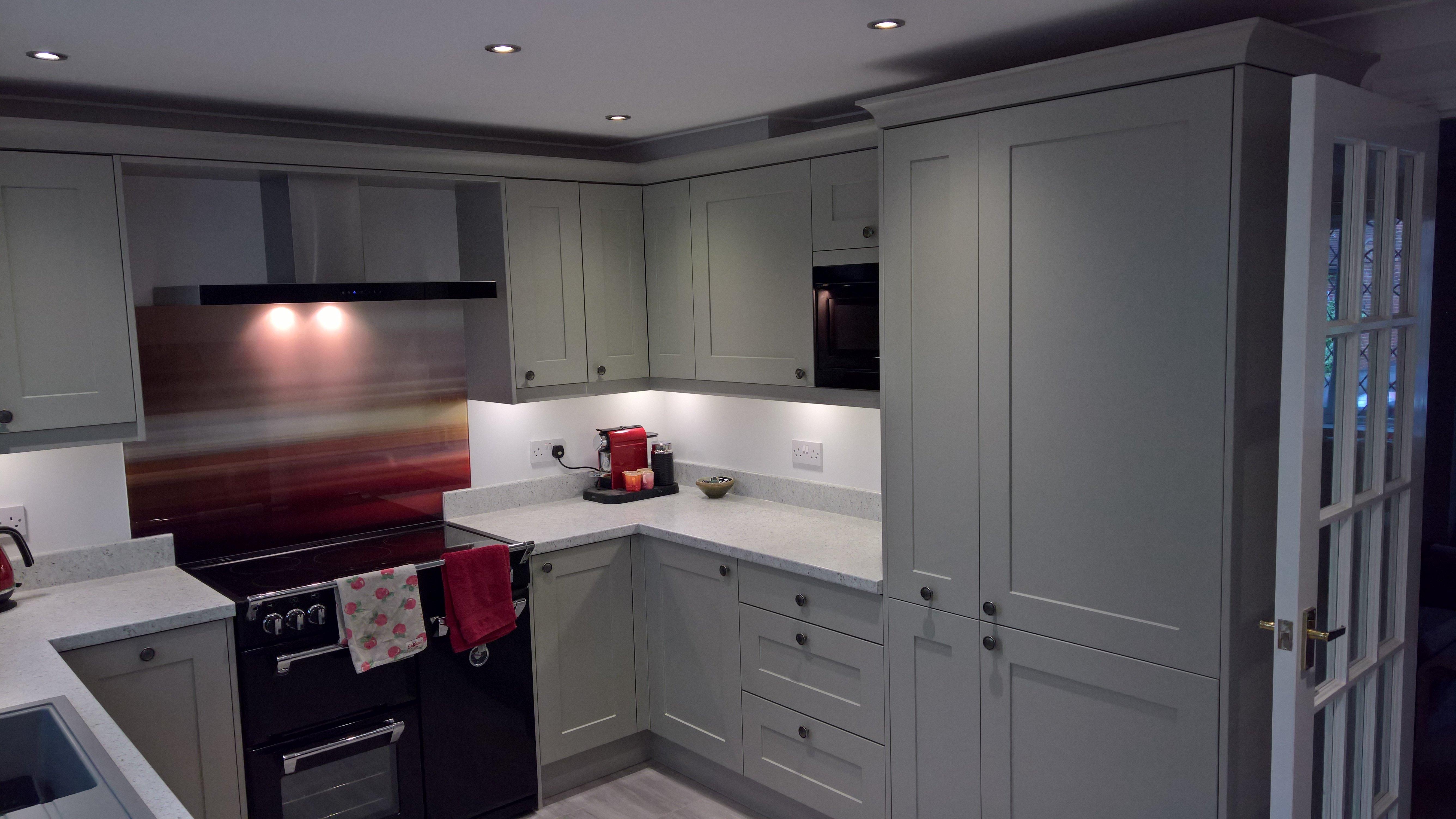 New white kitchen install