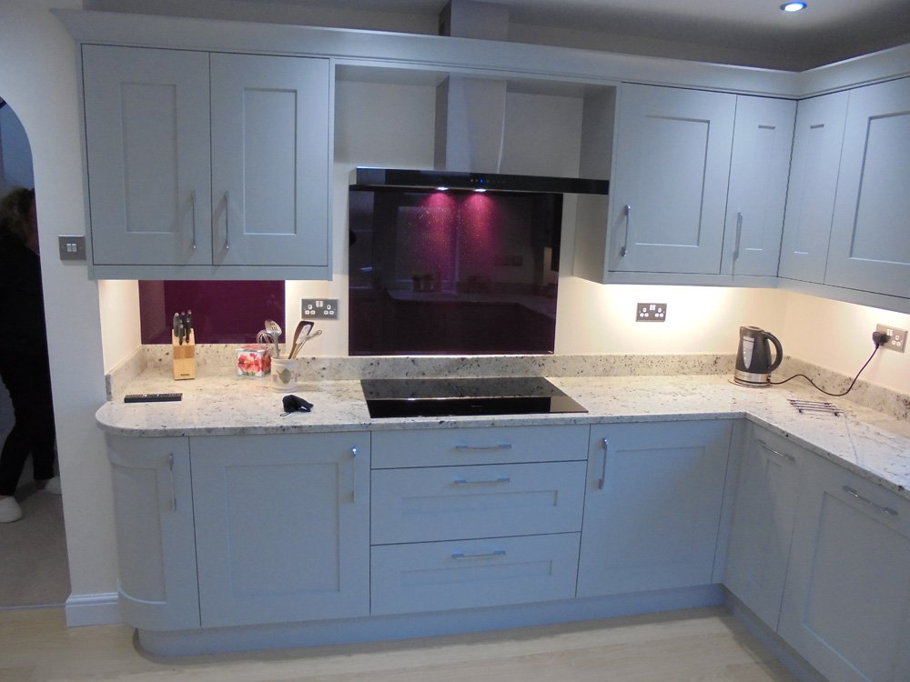 View of the kitchen designed by expert