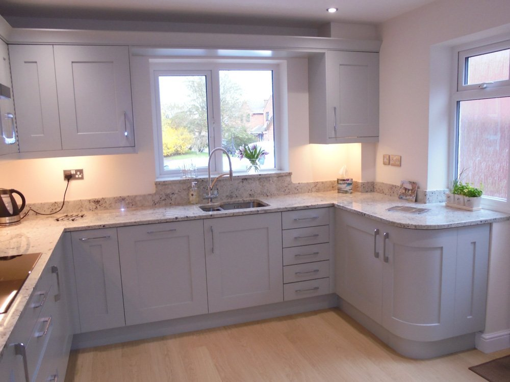 Interior view of the kitchen after the renovation work done by experts