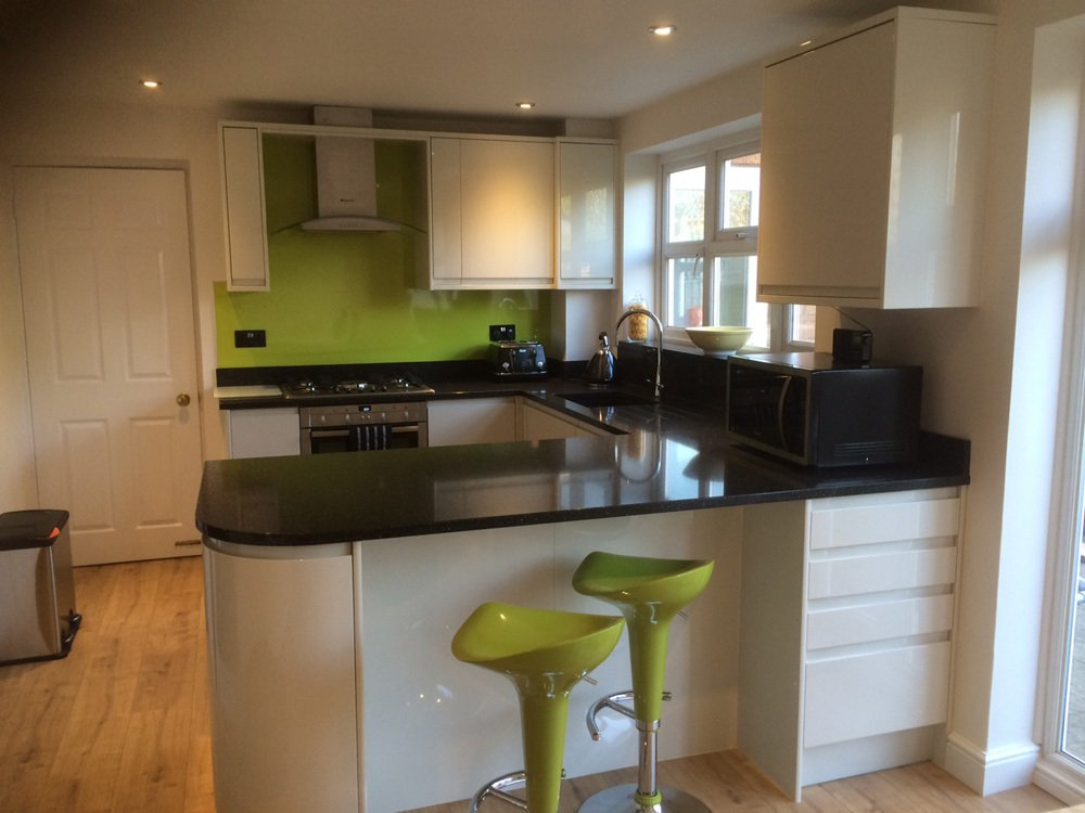 One of the fitted kitchens in Lee-on-the-Solent