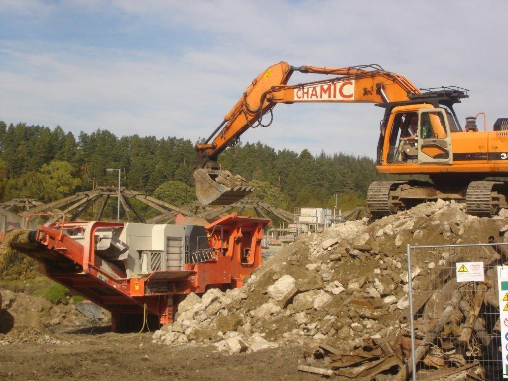 Site clearance work in progress