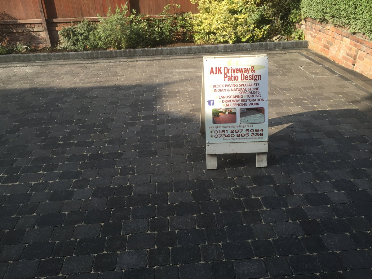 Paving and sign