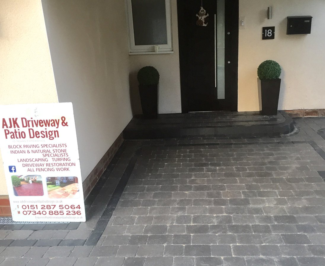 Newly paved outdoor area