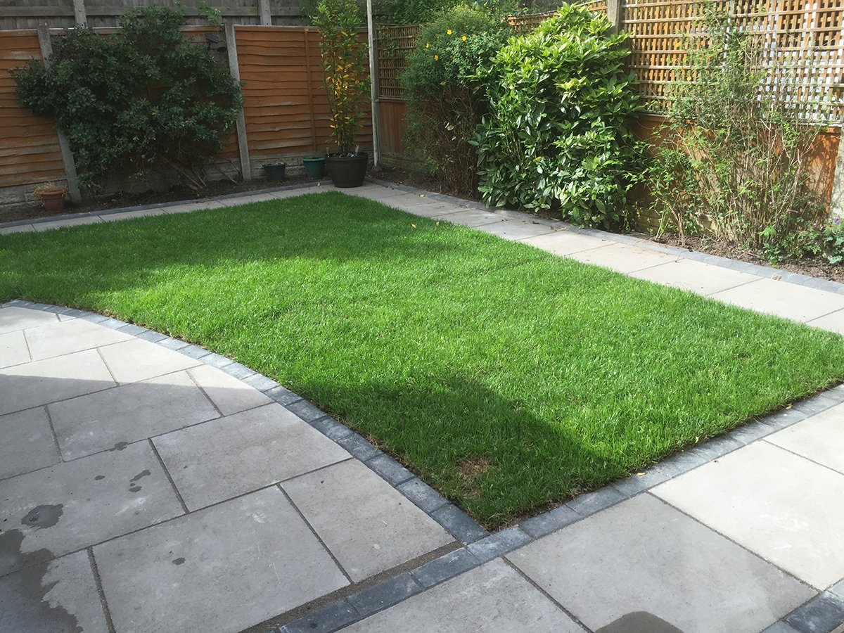 Flagging - paved area