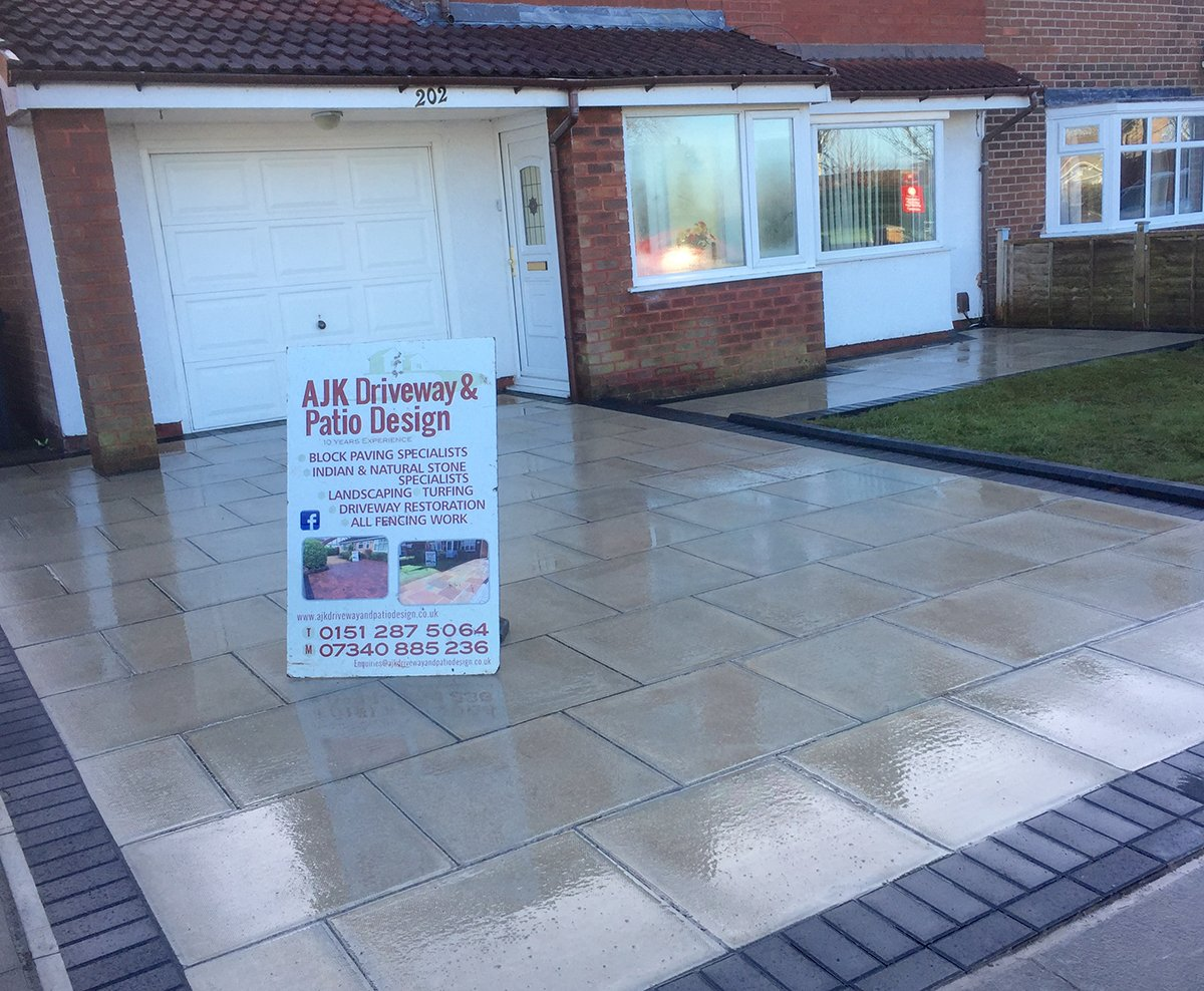 Newly installed driveway