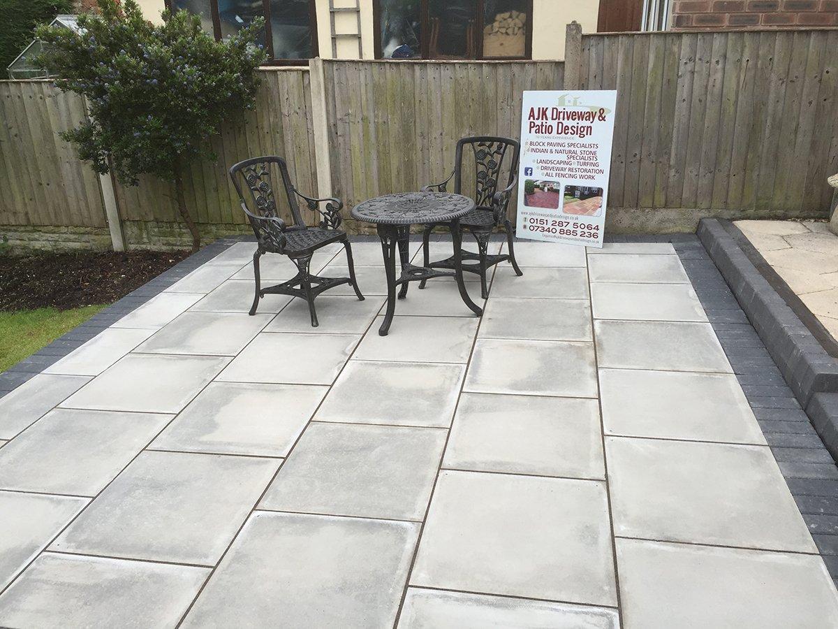 Domestic patio area