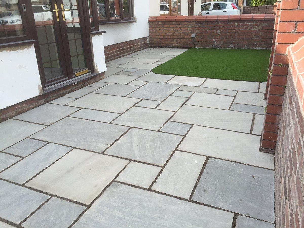 Natural stone patio area