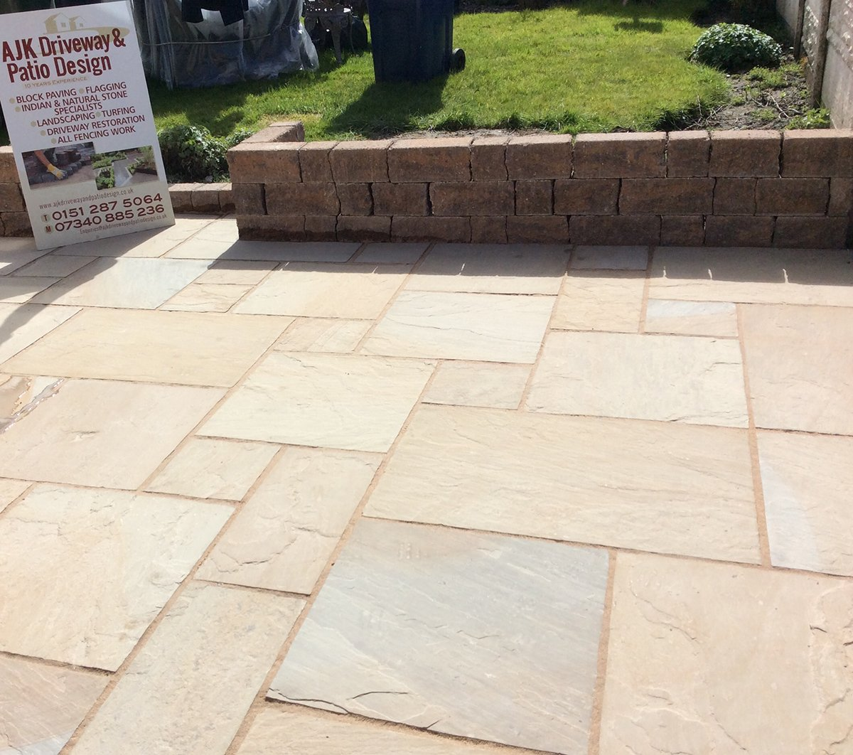 Light stone patio