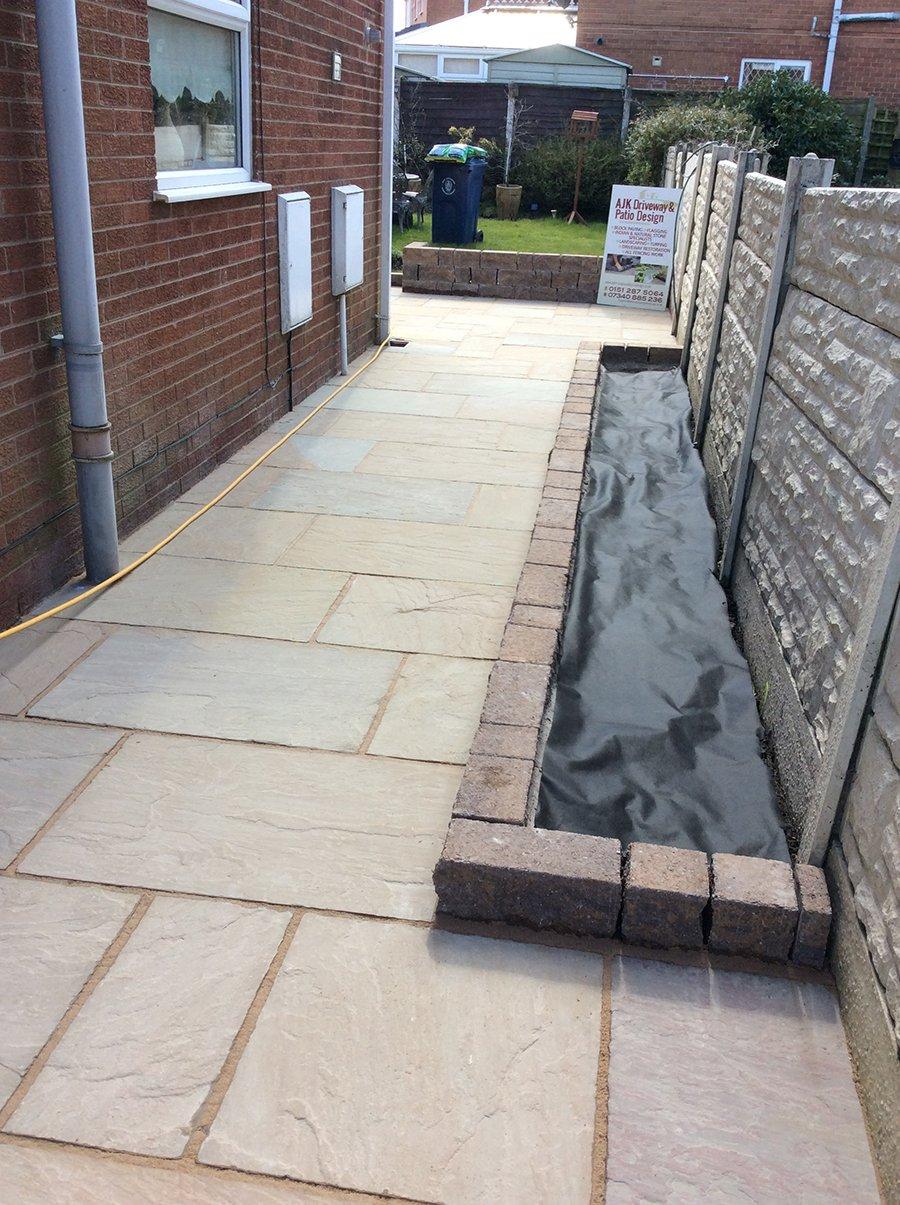 Grey natural stone path