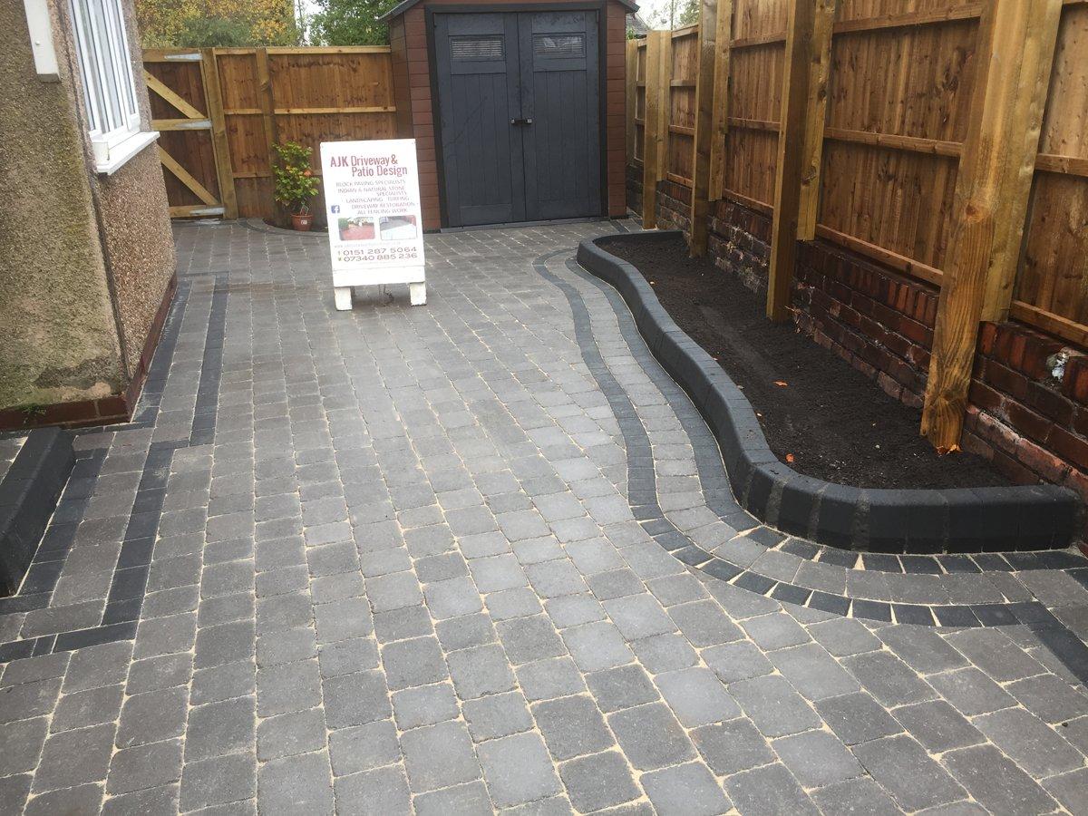 Newly paved area