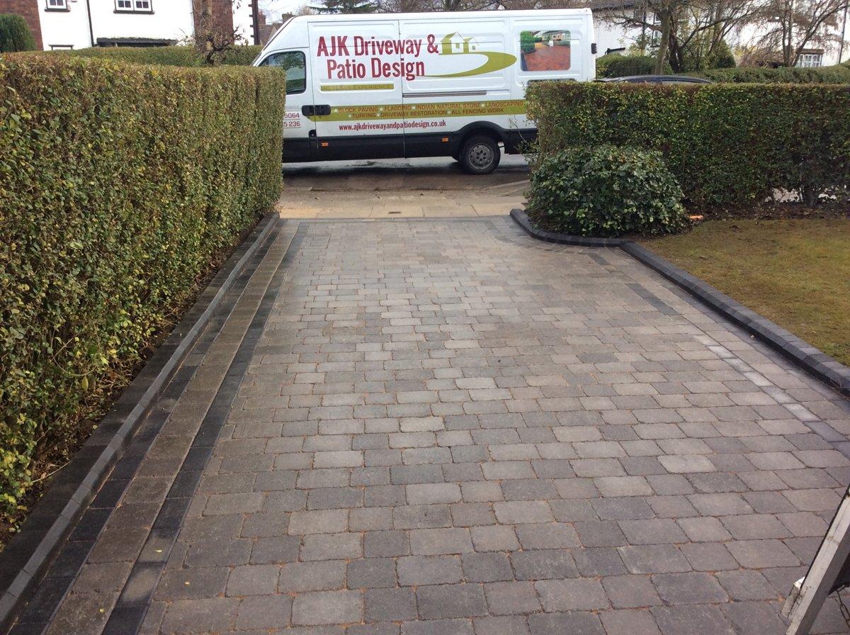 New driveway laid