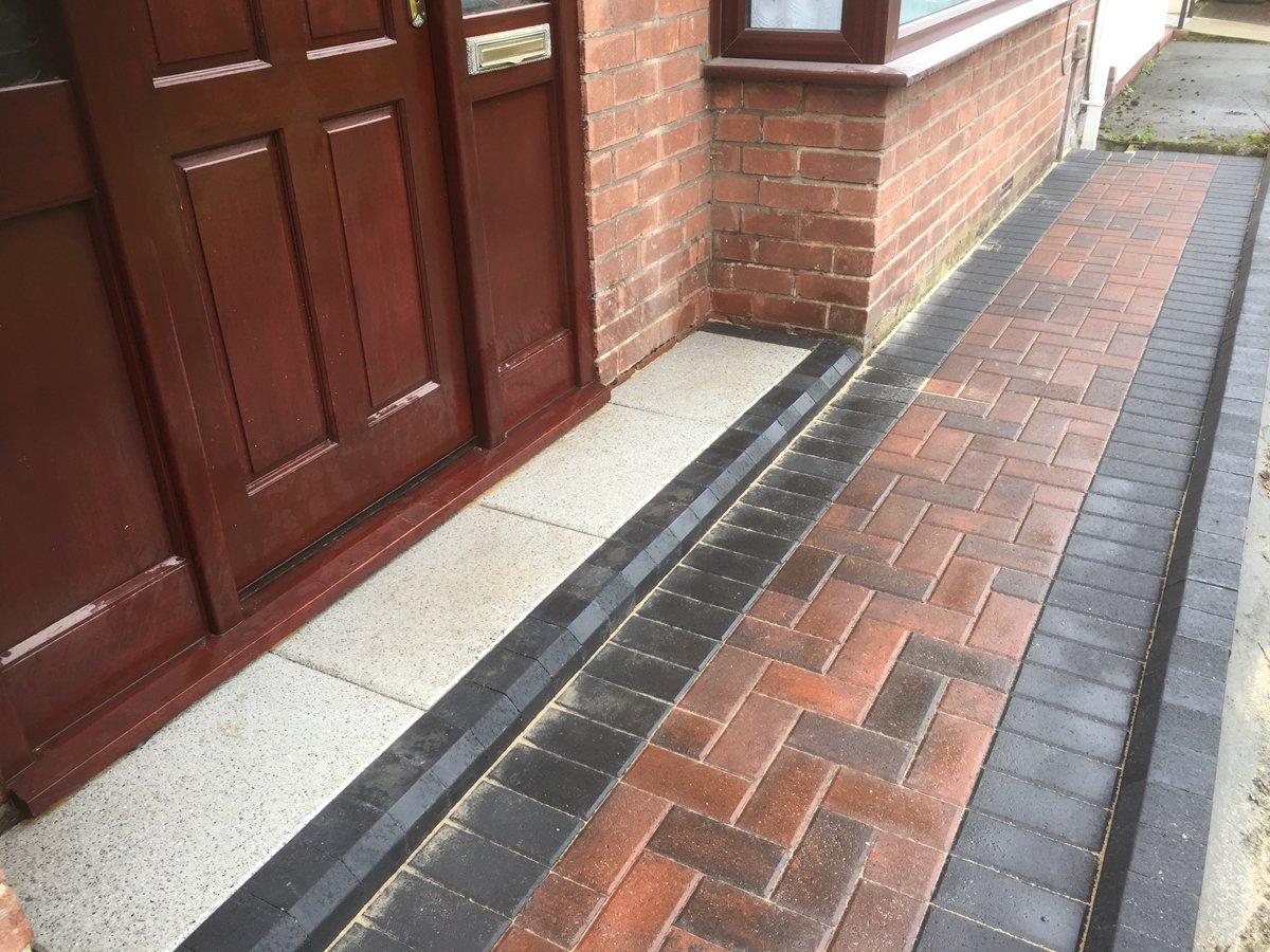 Paved porch area