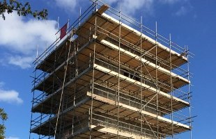commercial building scaffolding
