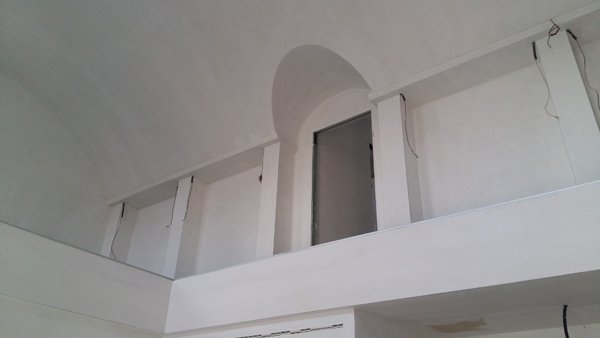 parete interna bianca