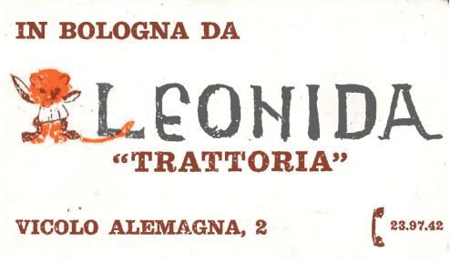 trattoria Leonida