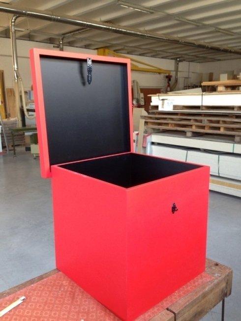 scatola in legno laccata bicolore opaco