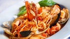 pasta con pesce, spaghetti con pesce, spaghetti con cozze