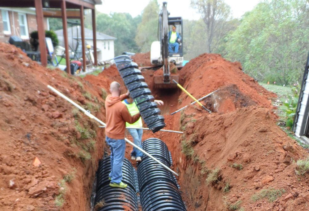 Marks for one of the septic tank repair services we provided in Archdale, NC