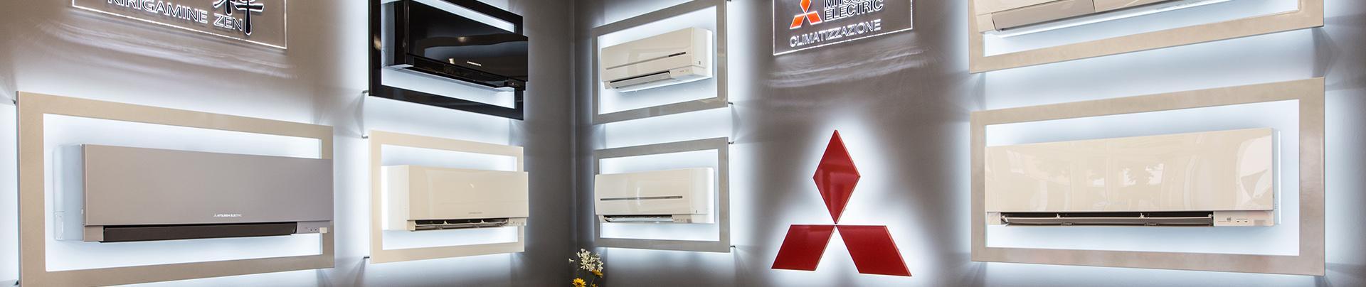 diversi modelli di aria condizionata a marchio Mitsubishi Electric
