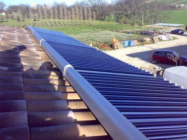 Pannelli Solari Sottovuoto con Boiler in Centrale Termica