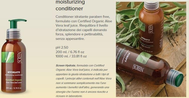 CONDITIONER IDRATANTE SENZA PARABENI