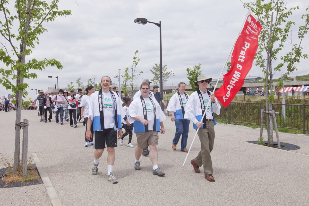 Making the walk at Chubu Walkathon