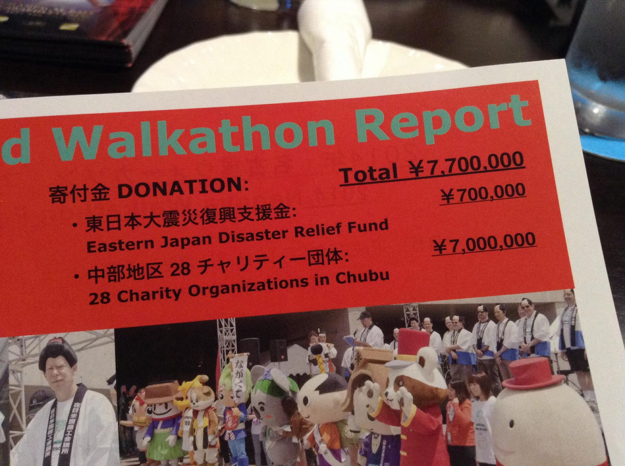 Walkathon report