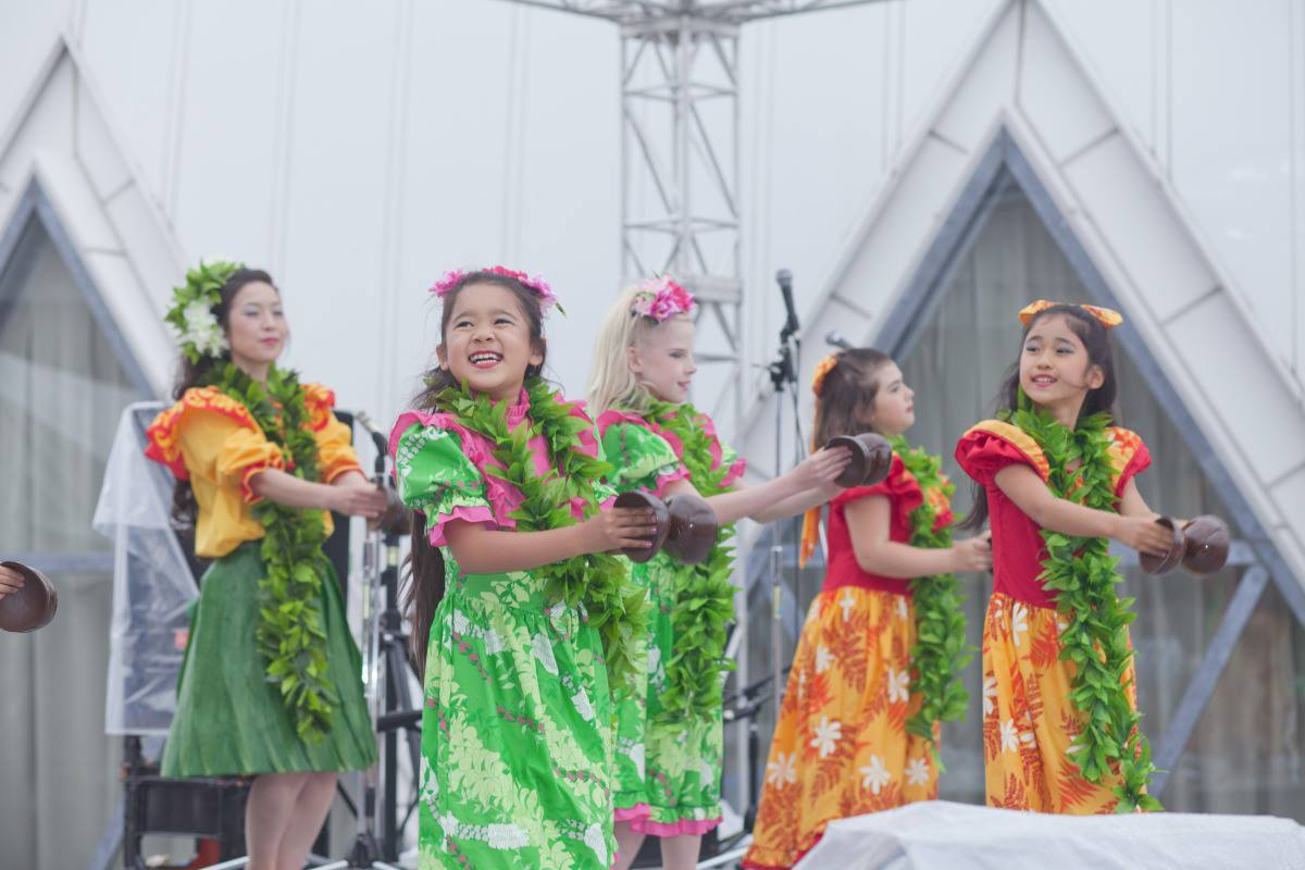 Hula Dancers at Chubu Wallkathon