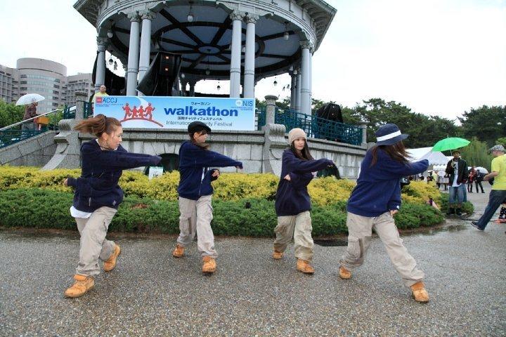 Dancing at 19th Chubu Walkathon