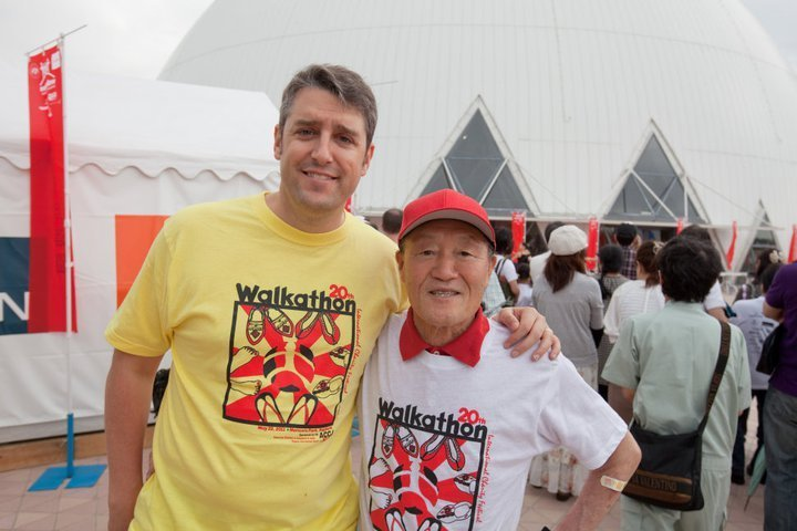 Volunteers with 2011 Walkathon T-Shirts