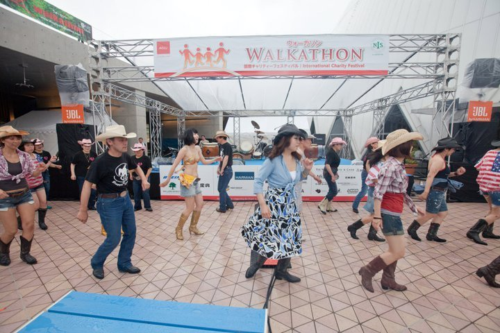 Country Line Dancers at 20th Chubu Walkathon