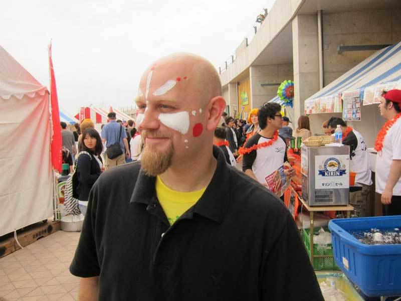 Painted Face at 21st Chubu Walkathon