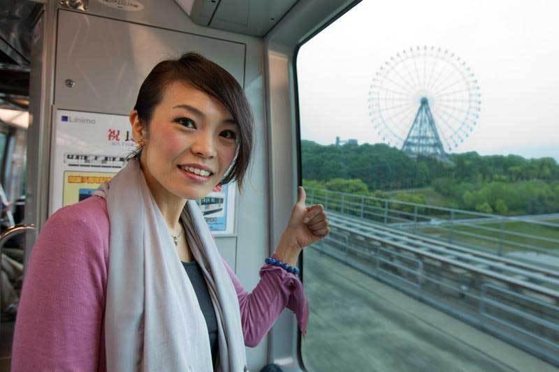 Masako sama on train to Walkathon