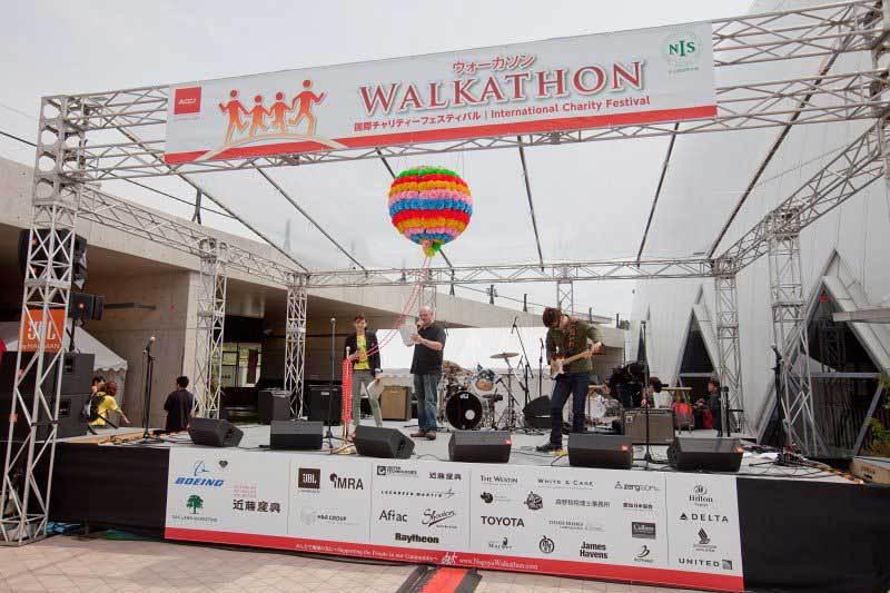 Main Stage at 2012 Chubu Walkathon