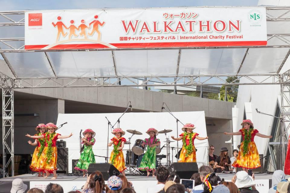 Young Hula Dancers at Chubu Walkathon