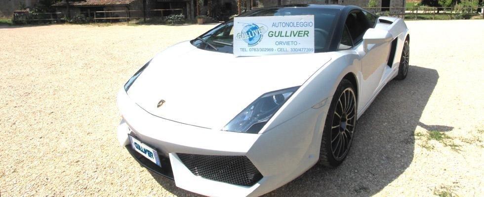 Noleggio auto Lamborghini, Noleggio Auto Sportive, noleggio auto per cerimonie, noleggio Jaguard Gallardo, Orvieto, Terni, Viterbo