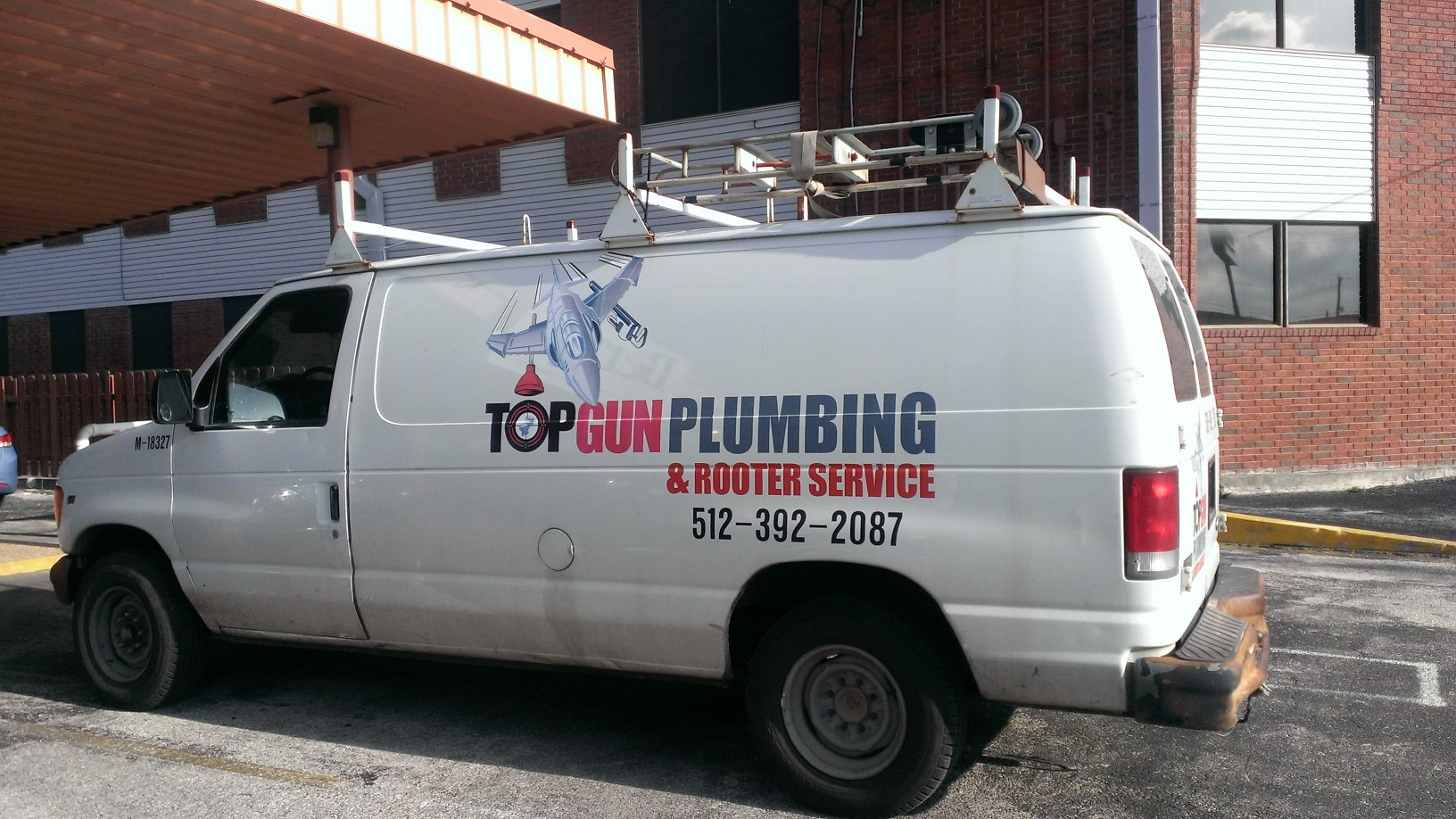 Truck of our plumbers in San Marcos, TX