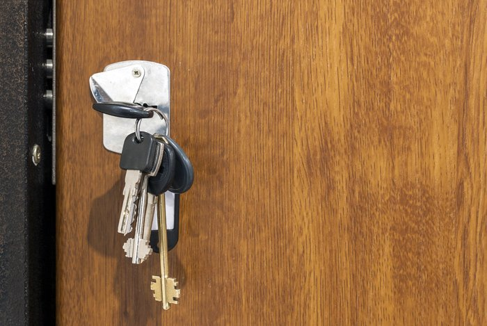Chiave per serratura porta blindata