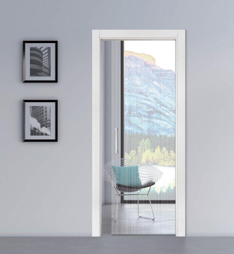 Cornice porta bianca
