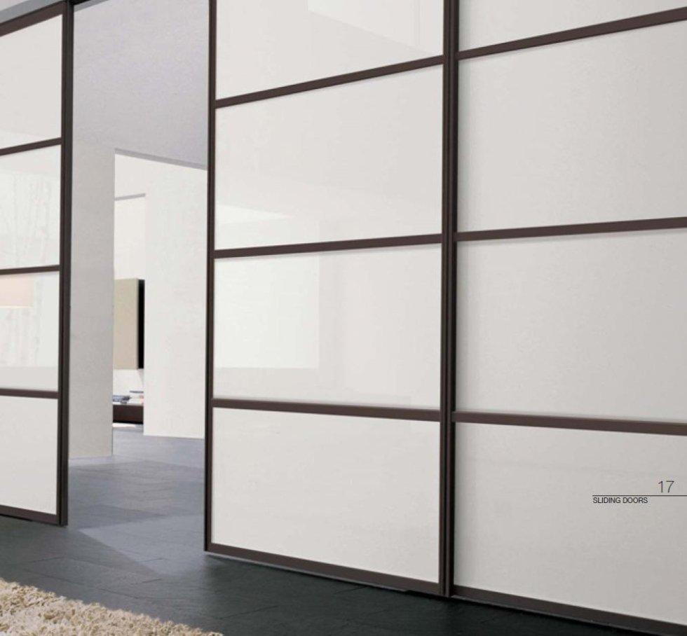 Modello scorrevole di porta a vetri per interno