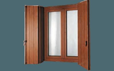 Scuri marrone per finestra