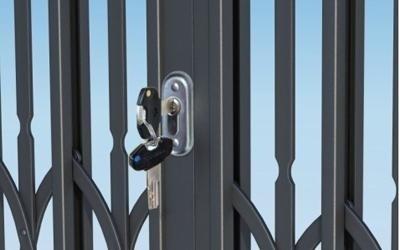 cancello estendibile ferro con chiave