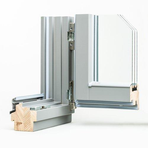 Prospetto finestra legno/alluminio