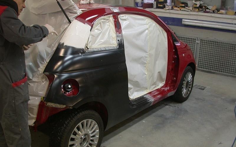 Fiat cinquecento verniciatura
