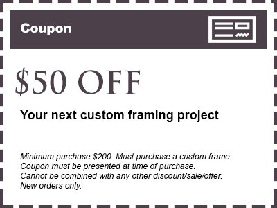 Custom Picture Framing Specials | Houston TX | My Workshop Picture ...