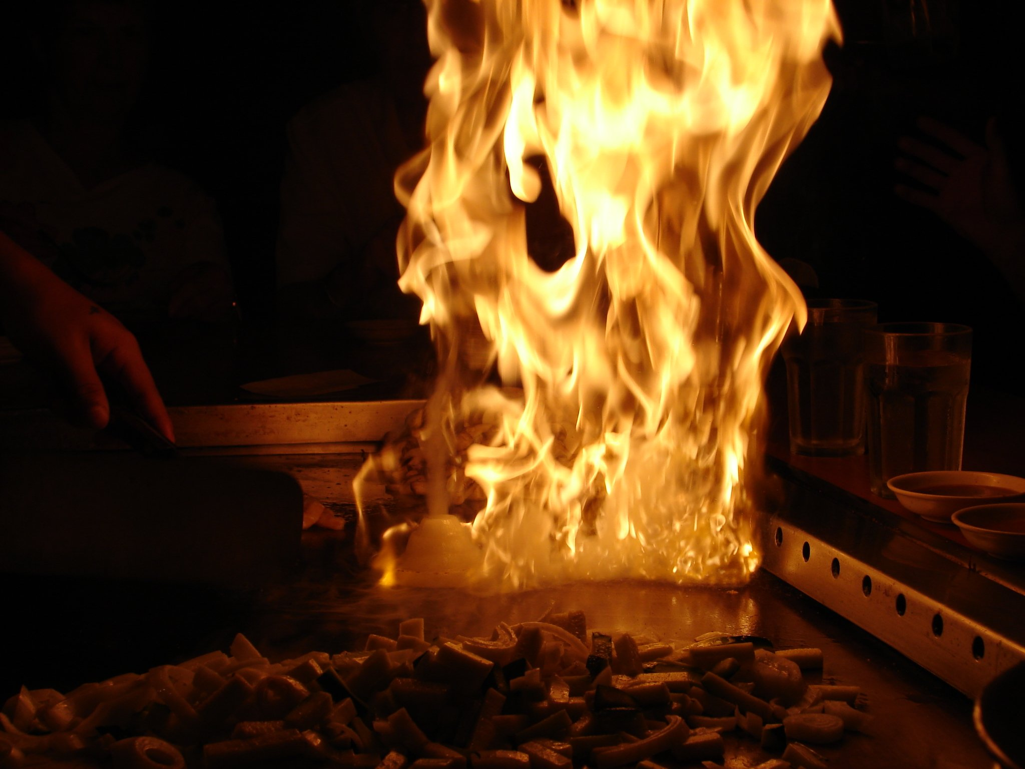 Hibachi Boy flame
