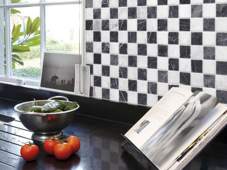 Mosiac and Mouldings Kitchen Flooring