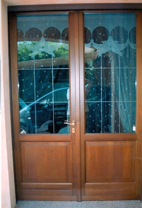 Porta esterna in hemlock