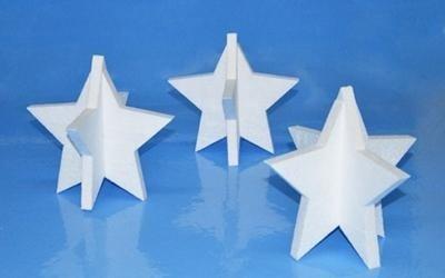 stelle in polistirolo